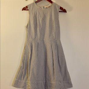 Seersucker dress.